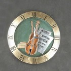 victorian style roman numeral music wall clock from www.rock-music-download.com