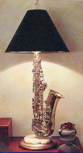 music saxophone instrument lamp photo from www.rock-music-download.com